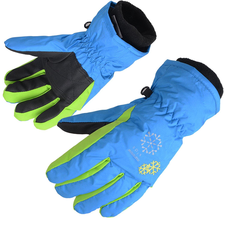 AMYIPO Kids Winter Snow Ski Gloves Children Snowboard Gloves for Boys Girls