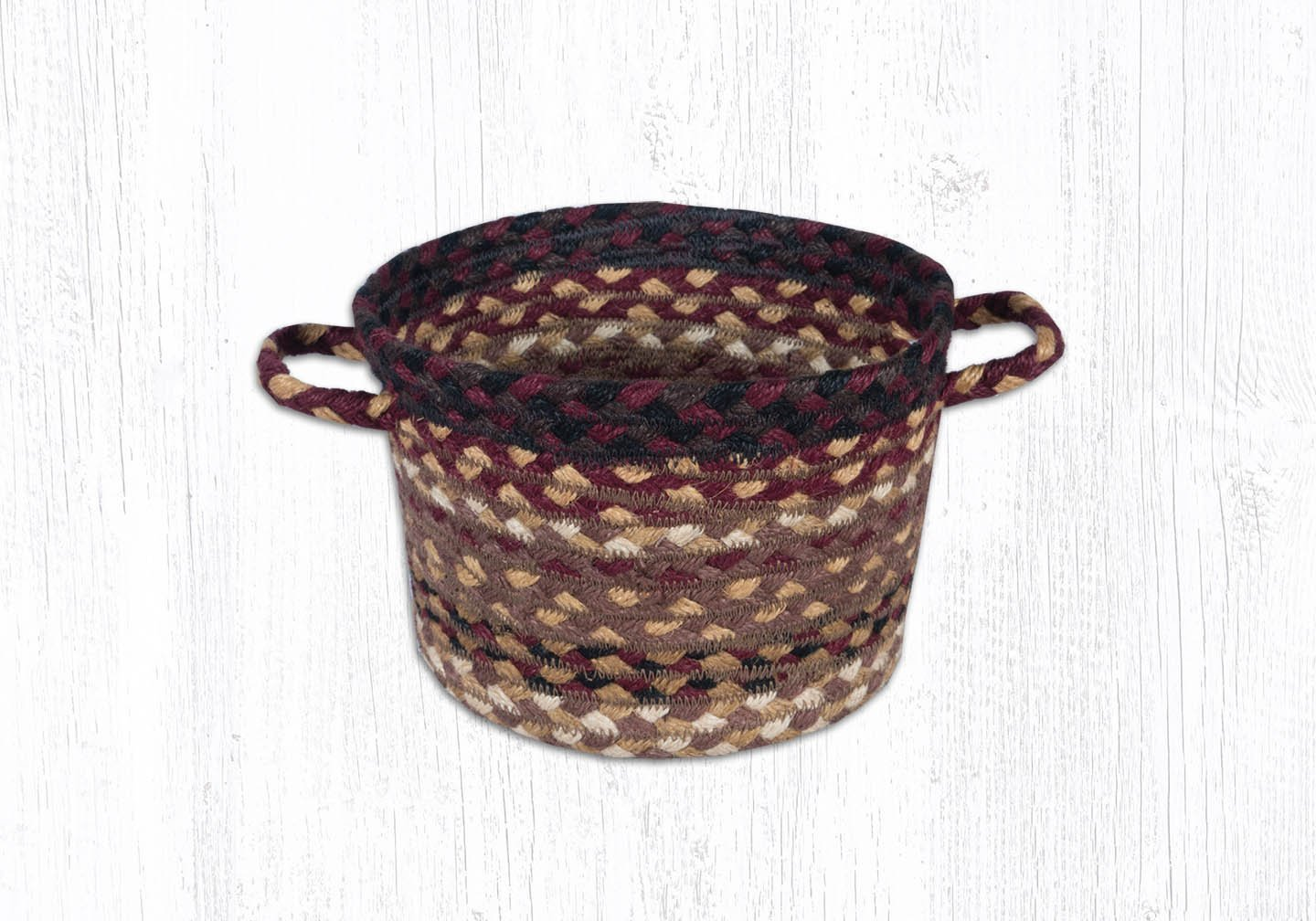 Black Cherry/Chocolate/Cream Utility Basket 8 in. by 6 in.