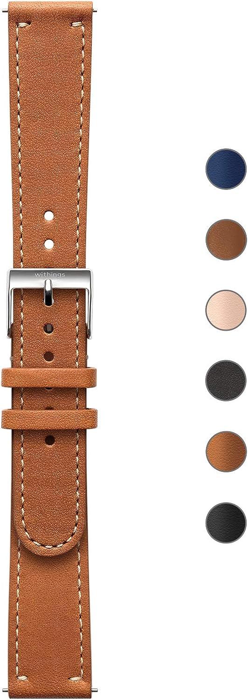 Withings Pulseras deportivas de piel de calidad para los relojes Steel HR, Steel HR Sport, Move ECG, Move y Steel