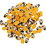 Jili Online Pack of 200 Tiny Wooden Bee Flatback Embellishment for Craft Scrapbooking DIY Decor