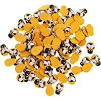 Prettyia 200pcs Tiny Wooden Flat Back Bees Buttons Crafts Scrapbooking Embellishments