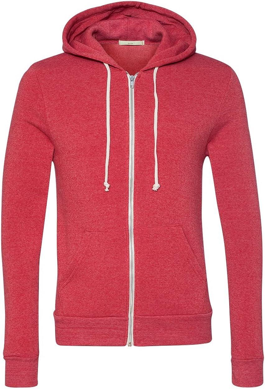 Alternative Mens Rocky Zip Hoodie Sweatshirt,