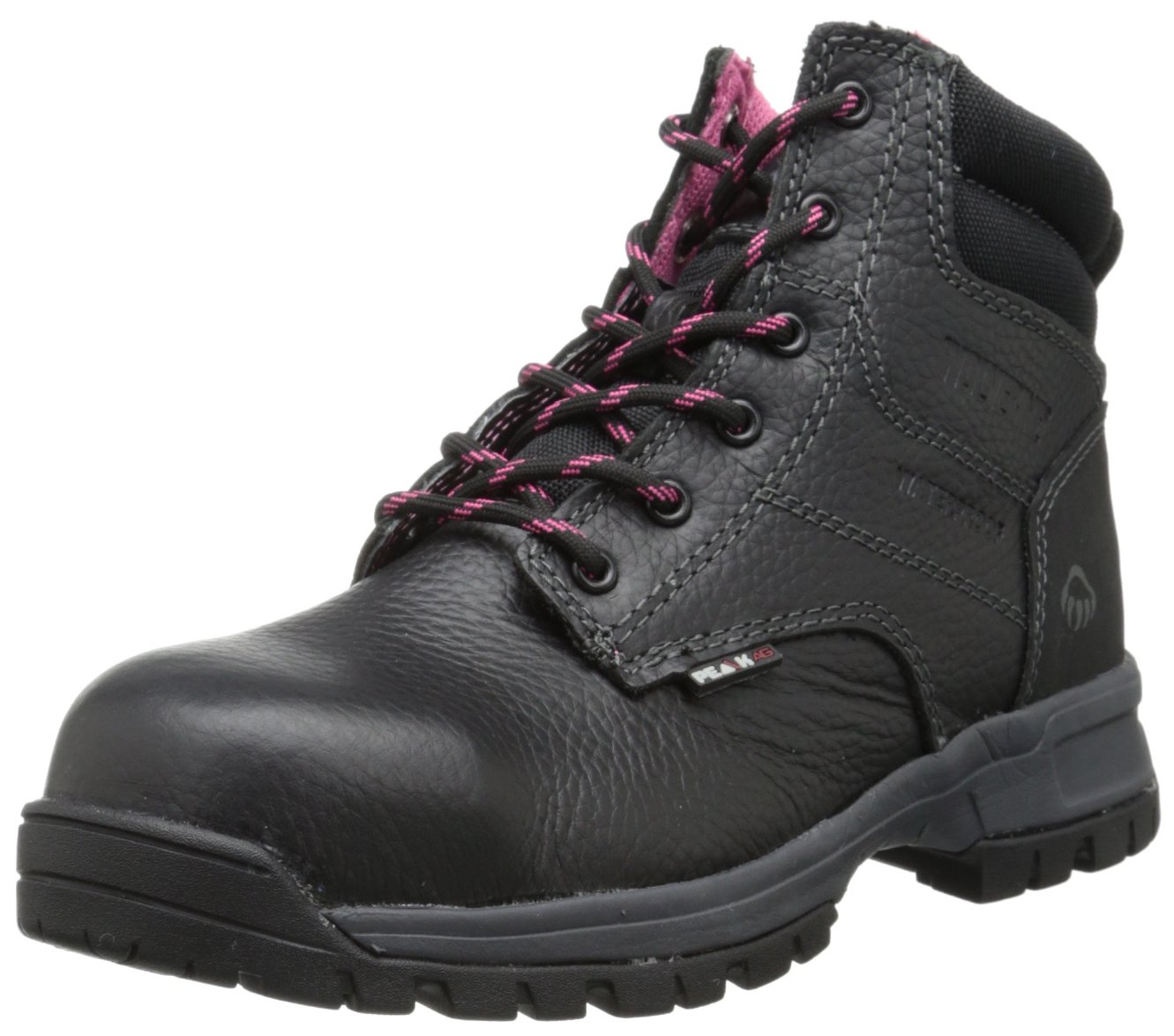 Wolverine Women's Piper Comp Safety Toe Boot,Black,7.5 W US