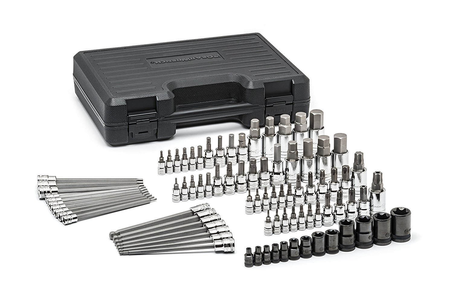 GearWrench 80742 Master SAE/Metric Hex and Torx Bit Socket Set (84 Piece)