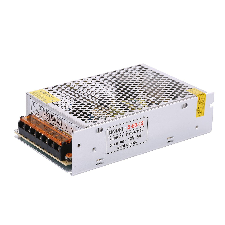 COLM 60W 12V Alimentation à Découpage Transformateur de Pilote pour LED Lumière de Bande Flexible 110V / 220 V à 12 V DC 5A 60W Alimentation Transformateur Adaptateur