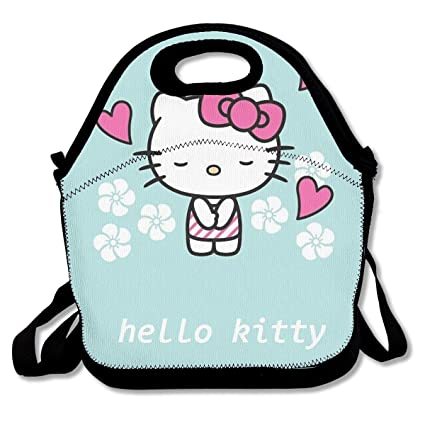 89f814754ad4 Amazon.com - Meirdre Lunch Box Hello Kitty Fall in Love Insulated ...