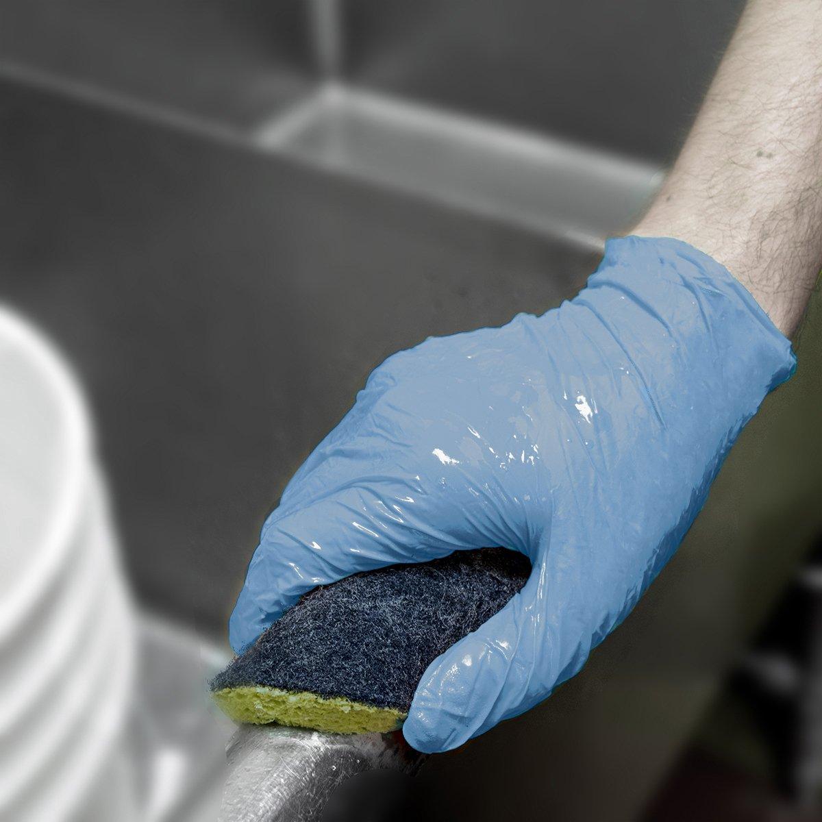 Powder Free UltraSource Economy Disposable Nitrile Gloves Dark Blue Large Box of 150 5 mil 441260-L