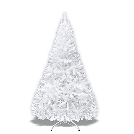 size 40 40b28 3cd21 White Artificial Christmas Tree 7 ft Spruce Metal Stand Folding Realistic  PINE---1000 tips