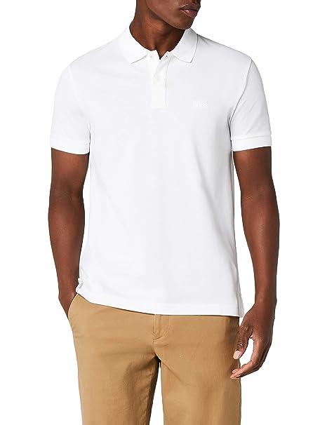 0b920694b BOSS Piro Polo, Bianco (White 100), Small Uomo