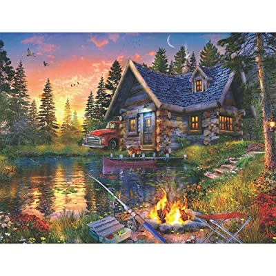 Springbok 500 Piece Jigsaw Puzzle Sun Kissed Cabin: Toys & Games