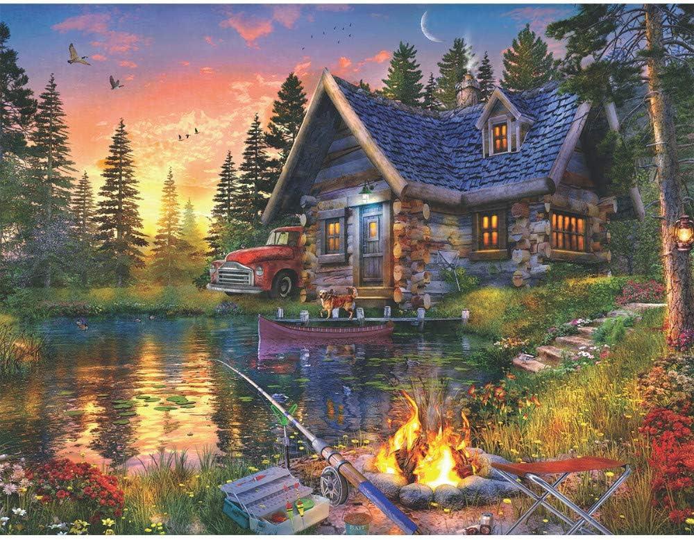 Springbok 500 Piece Jigsaw Puzzle Sun Kissed Cabin