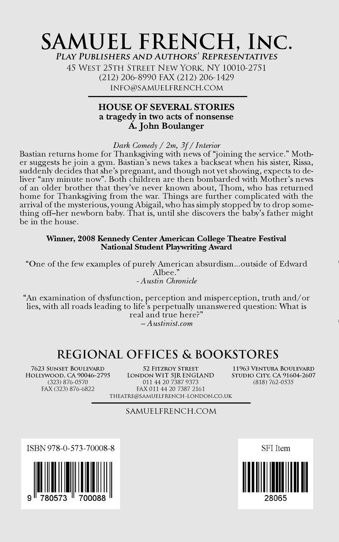 House Of Several Stories A John Boulanger 9780573700088 Amazon
