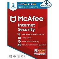 McAfee Internet Security 2021 |3 apparaten |1 jaar | antivirussoftware, internetbeveiliging, wachtwoordbeheer, Mobile…
