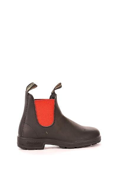 nuovo stile df53b 2a4f8 Blundstone | El Boot Stivaletto in Pelle Nero E Rosso | BCCAL0020