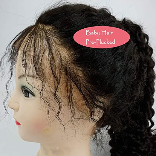 Pelucas Naturales Lace Front Wig Mujer Pelo Natural Cabello Humano con Pelo de Bebé 100% Remy Brasileño Lace Frontal Wigs Human Hair with Baby Hair Peluca ...