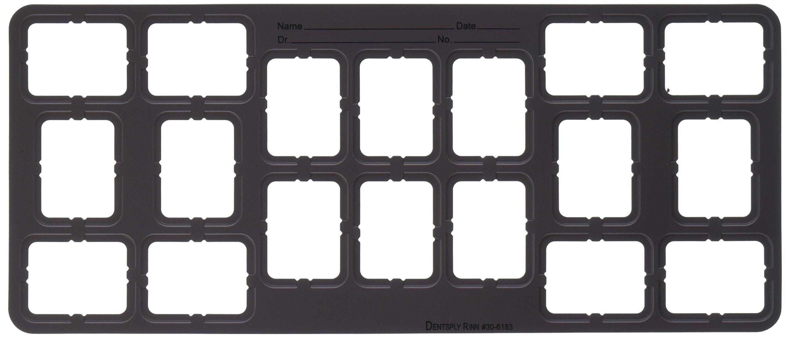 Dentsply 306183 EZ-Tab Plastic Series 30 Open Window, FMX #2, 8H, 6V, 4VBW, 124 mm Width, 289 mm Length, Grey (Pack of 100)