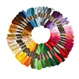 Colour Floss Embroidery Cross Stitch Threads Crafts 50/100/150 Skeins Cross-Stitching Sewing Thread Kit,100% Cotton (50 Skeins Per Pack)