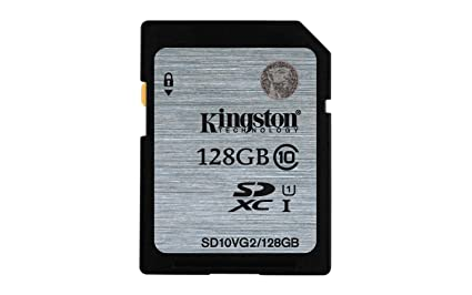 Kingston SD10VG2/128GB - Tarjeta SD UHS-I SDHC/SDXC (Clase 10-128GB)