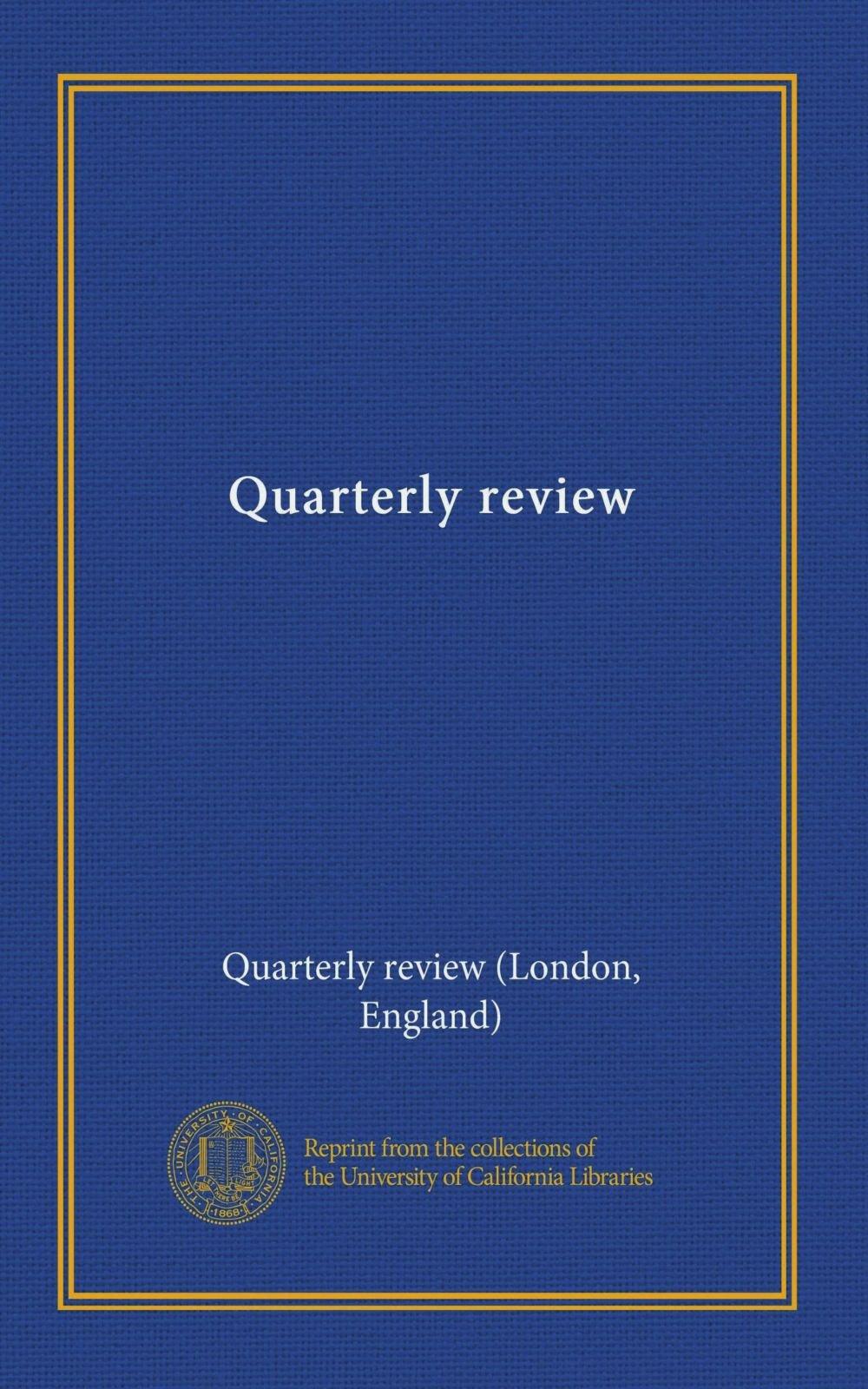 Read Online Quarterly review (v. 16 1816-17) pdf epub