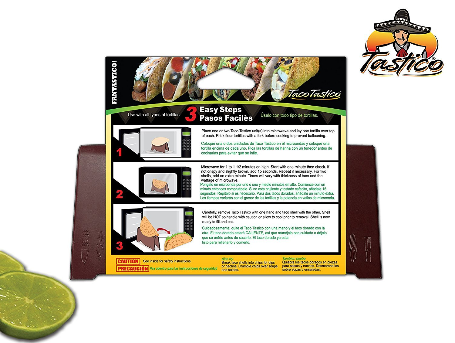 Amazon.com: Taco Tastico Makes Taco Shells Hard / Crunchy in your Microwave, Use with any Kind of Tortilla: Microwave Oven Accessories: Kitchen & Dining