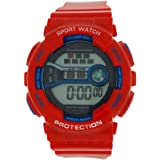 Montre Reflex Fille/Garçon Digitale Chronographe en Plastique Bleue & Rouge