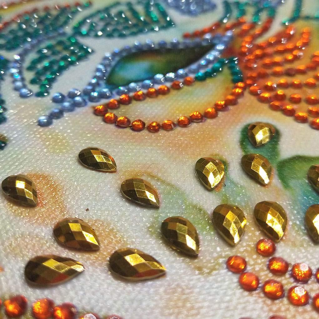 Cdrox DIY del Rhinestone de la Resina del Diamante de Cristal Pintura Bordado Animal del hogar del Cuadro Decorativo de Punto de Cruz: Amazon.es: Hogar