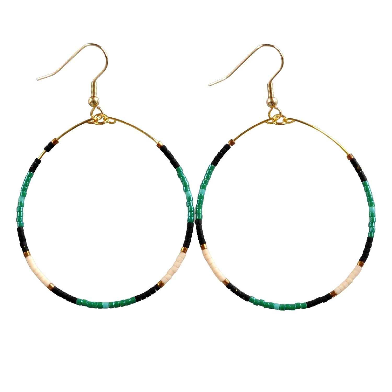 gift for her marbling earrings Hand painting earrings blue and gold earrings wood earrings