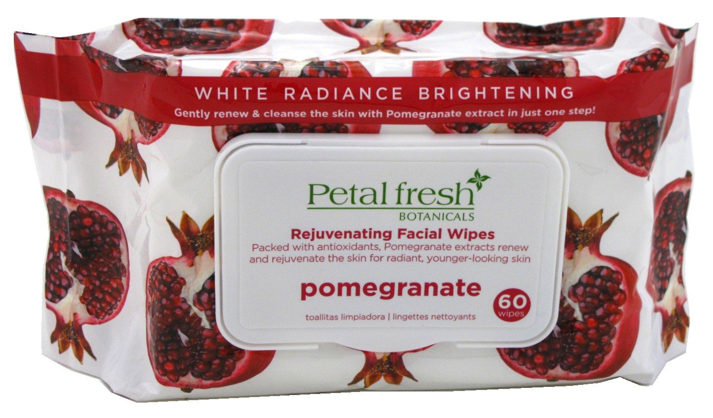 Petal Fresh, Rejuvenating Facial Wipes, Pomegranate, 60 Wipes(pack of 4) ASUTRA Silk Eye Pillow With Organic Lavender & Flax Seeds & Eye Gel Mask Purple