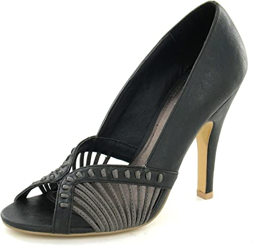 Ladies Barricci Peep Toe Court Shoes