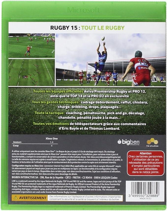 Rugby 15 [Importación Francesa]: Amazon.es: Videojuegos