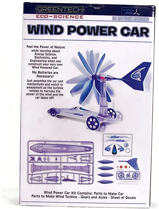 Amazon.com: Greentech Eco-Science Wind Power Car Beginner Science ...