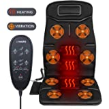 Naipo Back Massager Massage Chair Vibrating Car Seat Cushion for Back, Neck, and Thigh with 8 Motor Vibrations 4 Modes 3 Speed Heating at Home Office Car (Thickened Type)