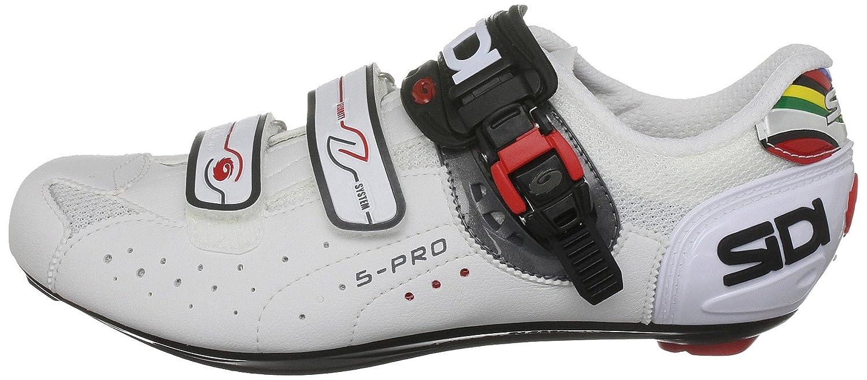 Sidi Genius 5 Pro Mega, Cyclisme hommes - Blanc-V.4, 41 EU