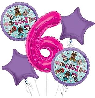LOL Suprise Balloon Bouquet 6th Birthday 5 Pcs