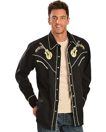 8c15c758ebc Amazon.com  Scully Men s Rock  N Roll Embroidered Retro Western ...