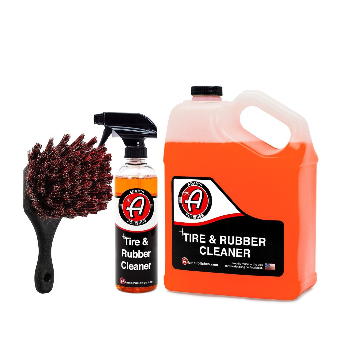 Adam's Tire & Rubber Cleaner - Removes Discoloration from Tires Quickly - Works Great on Tires, Rubber & Plastic Trim, and Rubber Floor Mats (Collection)