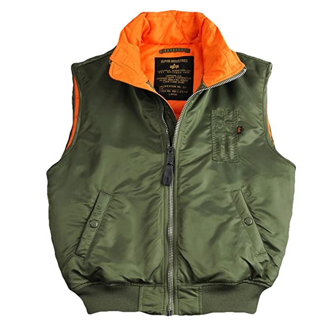 sale retailer 83f93 37e33 Alpha Industries Herren MA-1 Vest Weste (M, Sage-Green ...