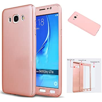 LXHGrowH Funda Samsung Galaxy Grand Prime [ 360 °] Protectora + Vidrio Templado, Funda Case Cover Carcasa para Samsung Galaxy Grand Prime G530 Color ...
