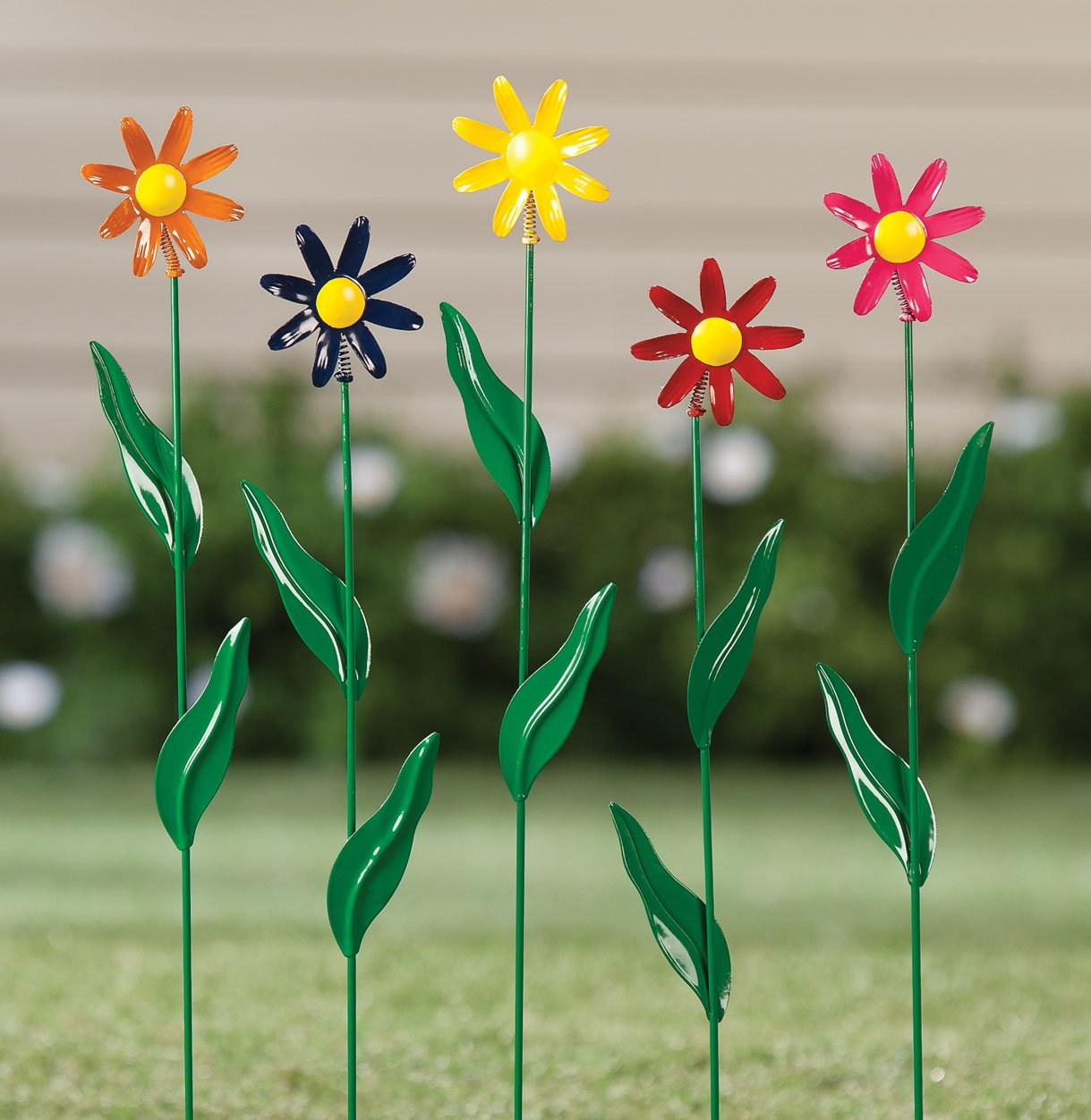 Metal Daisy Stakes, Set of 5 by Maple Lane CreationsTM by Miles Kimball (Image #3)
