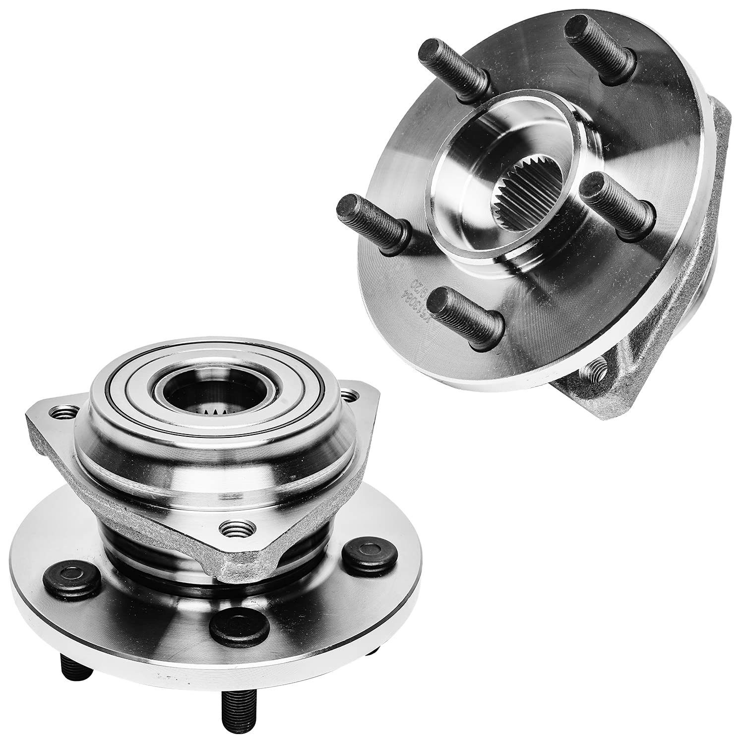 Detroit Axle - Front Wheel Hub and Bearings Assembly Replacement for Jeep Grand Cherokee Wrangler Wagoneer Comanche - 2pc Set