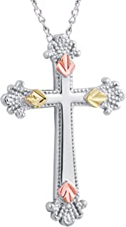 product image for Black Hills Gold on Silver Ornate Cross Pendant