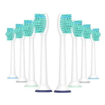 WuYan Cabezales Compatible para cepillo de dientes Philips Sonica