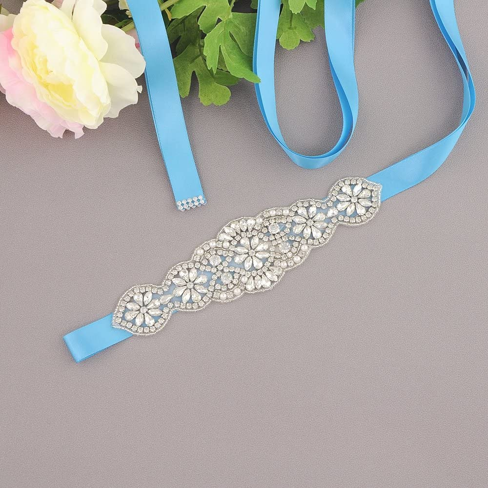 Azaleas Womens Bridal Belt Sash Crystal Diamond Bridal Belt Sashes Wedding Belts Sash for Wedding