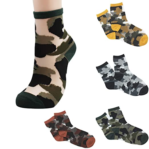 584a456181951 Sheer Mesh Transparent Socks Women - Lace Ultrathin Fishnet See Through Ankle  Sock Camouflage