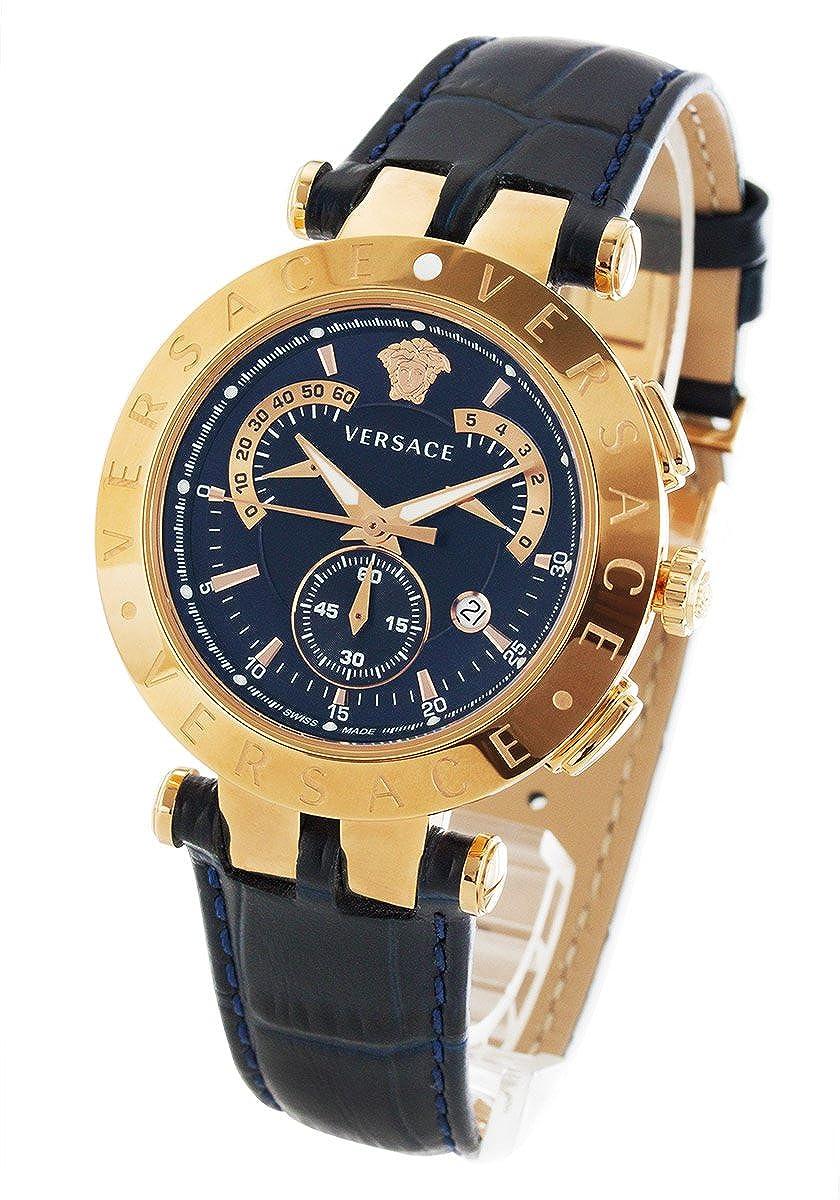 ヴェルサーチ V-レース クロノグラフ レトログラード 替えベゼル付き 腕時計 メンズ VERSACE 23C80D282S282[並行輸入品] B078H6JL3J