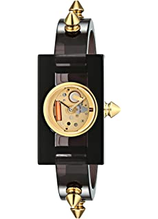 Gucci Quartz Gold-Tone and Plastic Casual Grey Womens Watch(Model: YA143508)