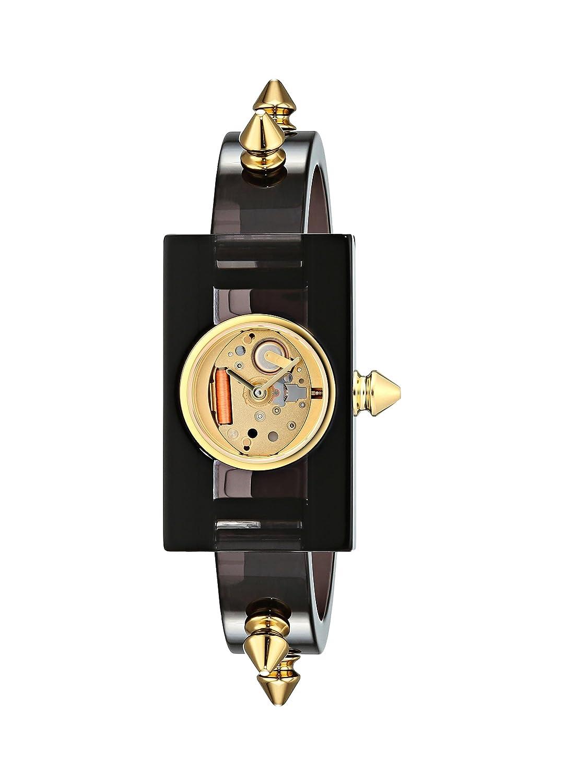 def62846e8a Amazon.com  Gucci Quartz Gold-Tone and Plastic Casual Grey Women s Watch(Model   YA143508)  Watches