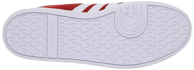 Herren Court Vlneo rot Schuhe adidas Sneaker Weiss Wildleder OkZXwPiTlu