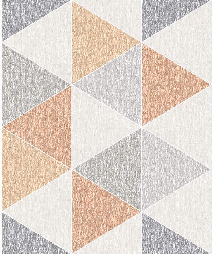 Rosa 908204 Arthouse Scandi Gama Tri/ángulo Geom/étrico 3D Efecto Contempor/áneo Pastel Liso Papel Pintado