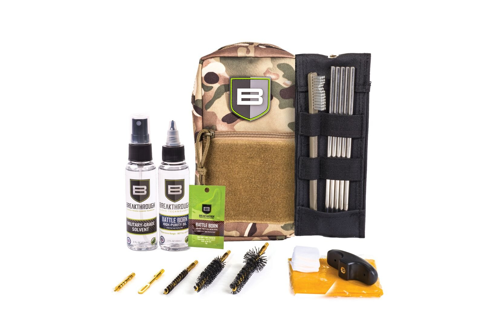 Breakthrough Clean Technologies LOC-223 Long Gun Rod Cleaning Kit (223cal / 5.56mm) (Camo)